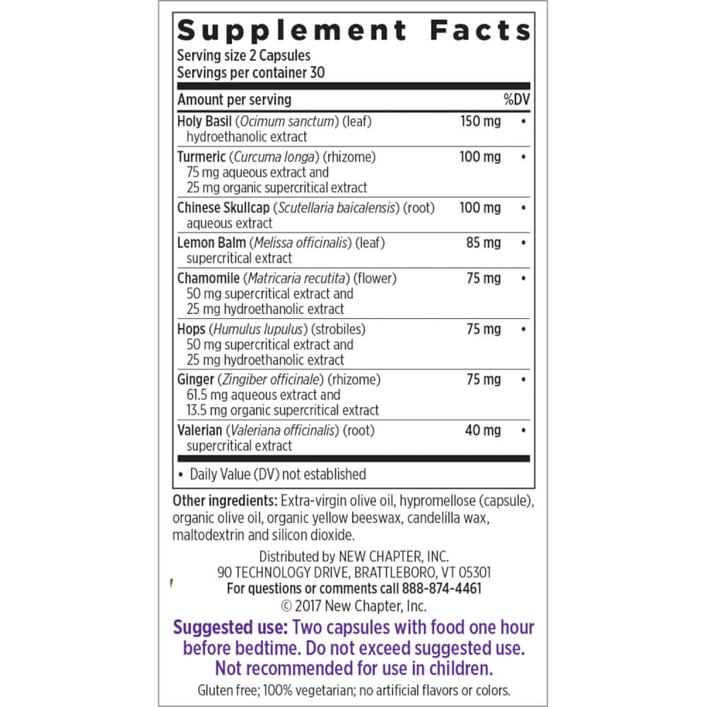 Supplement Facts for http://megafood-vitamins.com/images/Zyflamend Nighttime